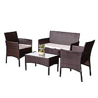Комплект садовой мебели плетеной из ротанга BELEN Коричневый цвет