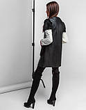 Braggart Youth | Женская жилетка весна-осень 25277 черная, фото 4