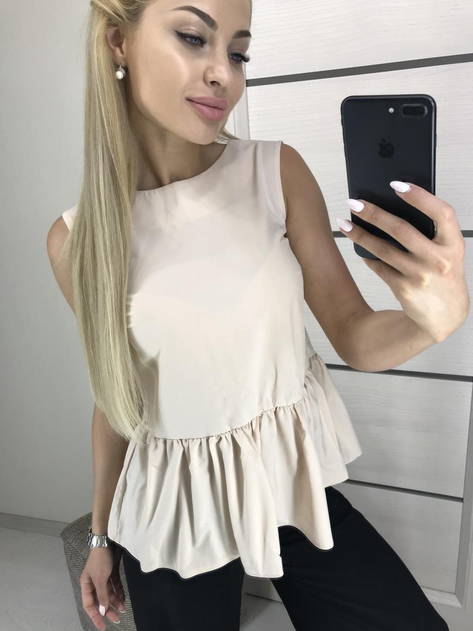 Блузка безрукавка женская
