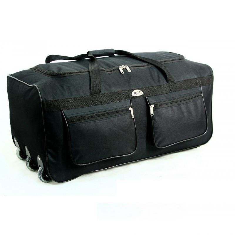 Дорожная сумка на колесах RGL A4 225л. мегабольшая. Цвет черный.