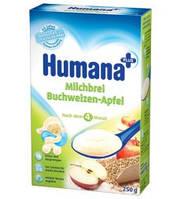 Каша молочная гречневая с яблоком хумана humana, 250г