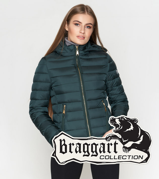 Braggart Youth | Женская короткая куртка 25115 зеленая