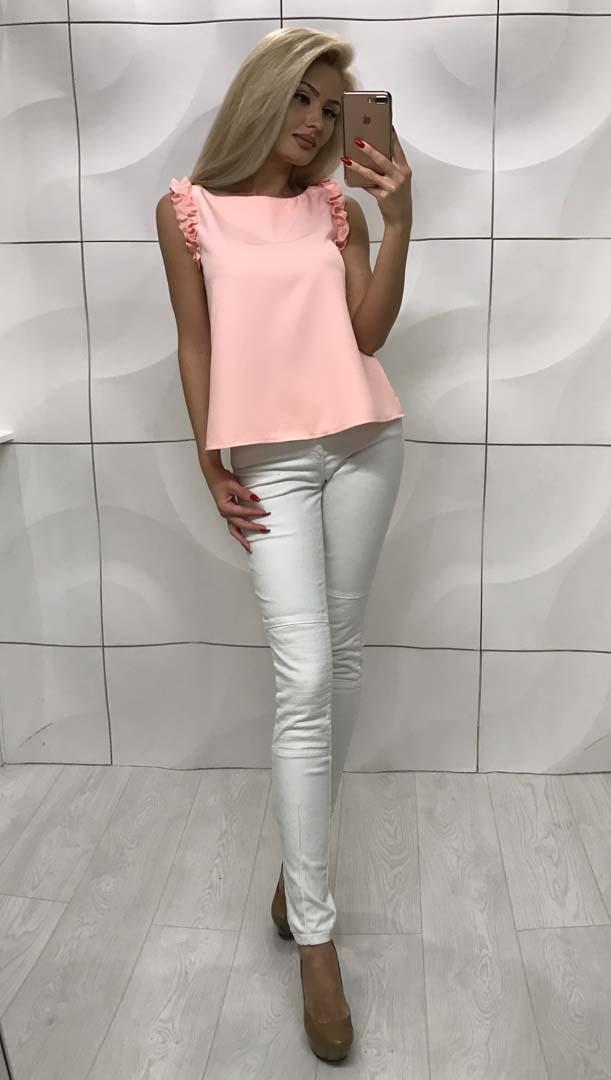 154cb8552a6 Летняя блузка персиковая