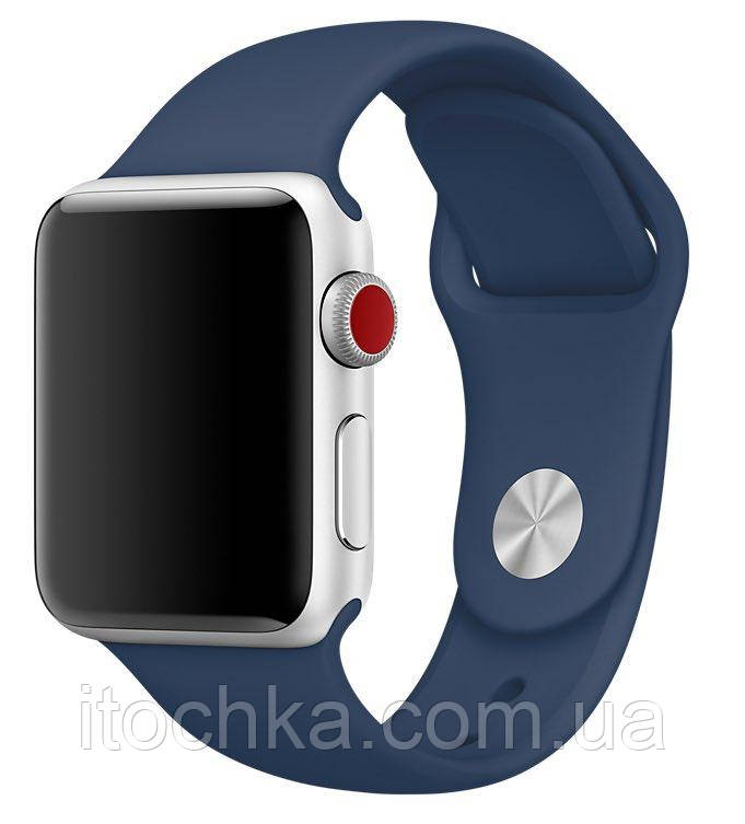 Ремешок Apple Sport Band for Apple Watch 42mm/44mm Midnight blue