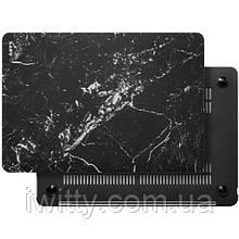 Чехол-накладка LAUT HUEX ELEMENTS for MacBook Air 13'' 2018 Marble Black (LAUT_13MA18_HXE_MB)