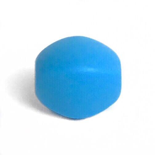 Оливка (голубая) силиконовые бусины