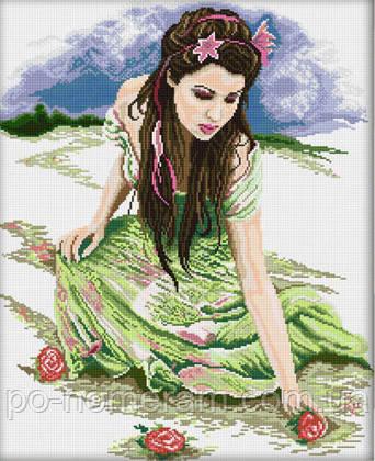 алмазная вышивка большая картина с девушкой