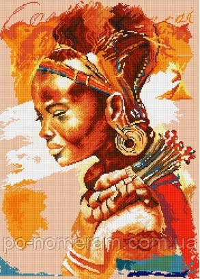 алмазная мозаика большая картина Африканка