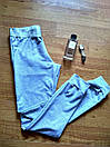 Штаны для прогулок и спорта штанишки спортивные брюки кельвин трикотаж двунитка С-ка серые, фото 5