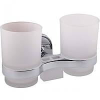 Двойной стакан  с держателем для зубных щеток Potato P2908