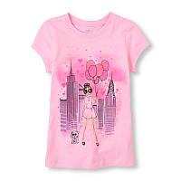 Розовая футболка для девочки The Children's Place; 5/6 лет
