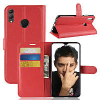 Чехол-книжка Litchie Wallet для Honor 8X Max Красный