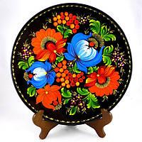 Петриковская роспись на тарелке