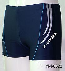 Мужские пляжные шорты In.Atlantiks арт.0522 голубой, фото 3