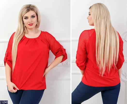 Блузка женская красная, фото 2
