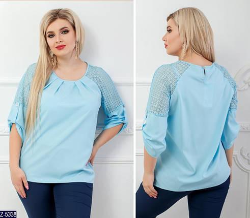 Блузка голубого цвета, фото 2