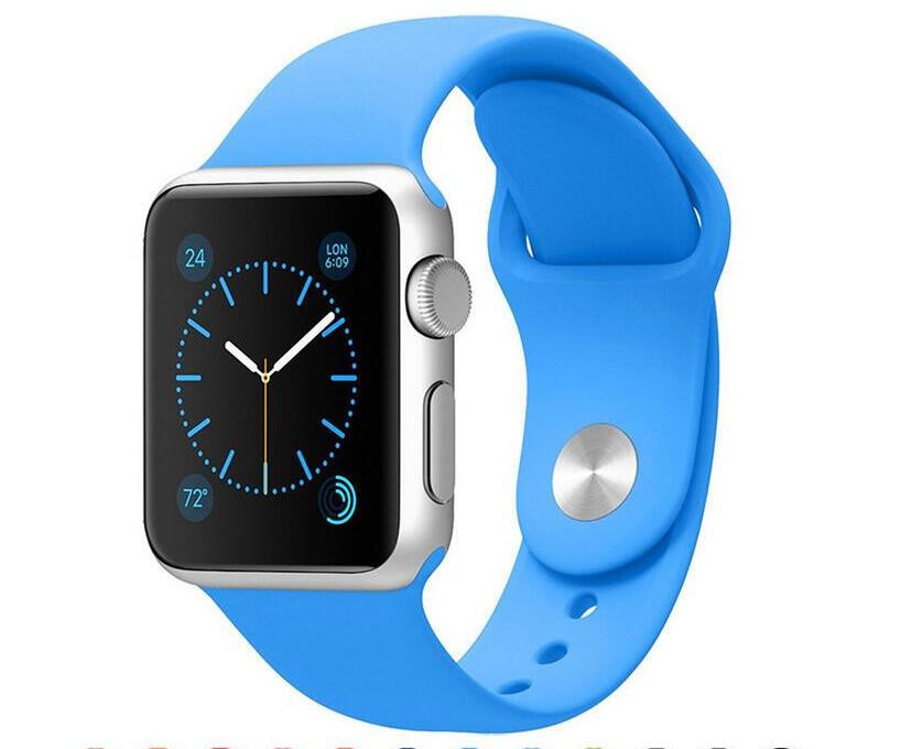 Ремешок Apple Sport Band for Apple Watch 42mm/44mm Blue