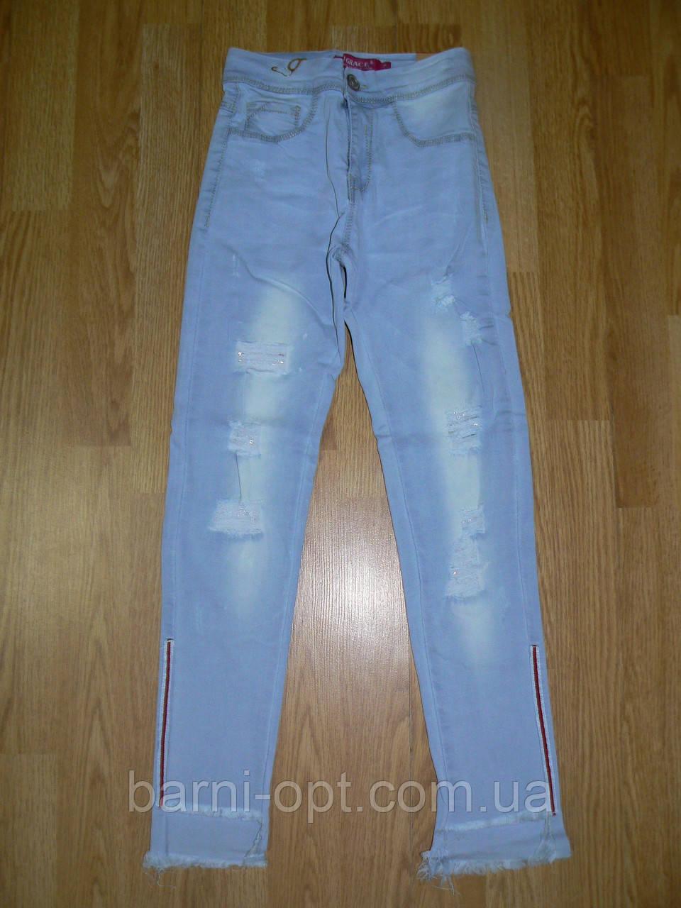 Джинсовые брюки для девочек оптом, Grace , 134-164 рр.