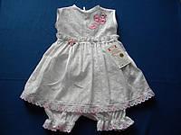 Платье и трусики для девочки из прошвы  р. 68 ,74 ,80 см.