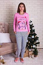 Пижама   женская  с пингвинами Nicoletta 96098