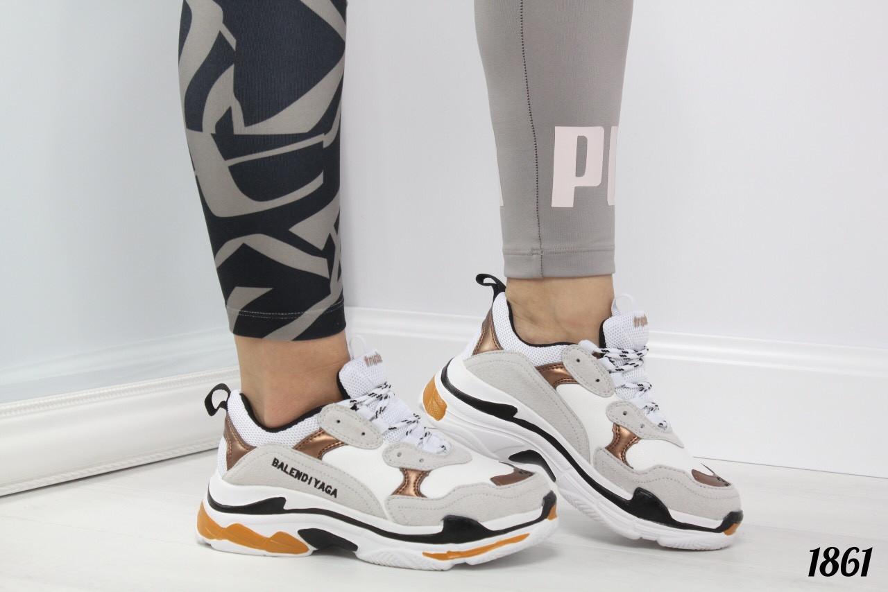 dd31ae2e5 Стильные кроссовки женские серые с белым эко-замш+эко-кожа, цена 480 ...