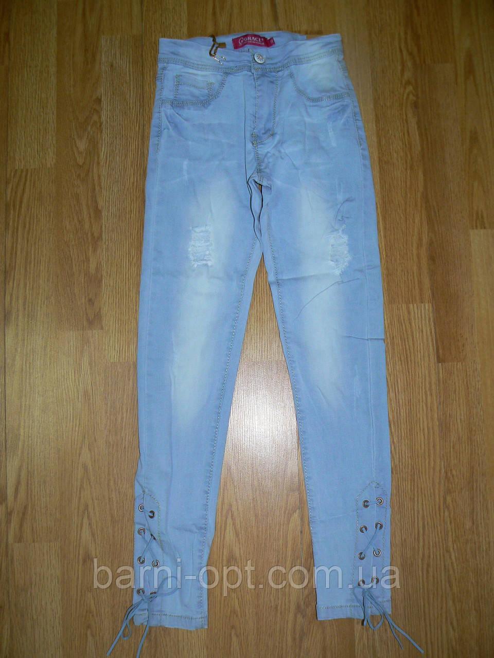 Джинсовые брюки для девочек оптом, Grace , 140-170 рр.