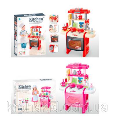 Детская Кухня WD-P15-R15 (2 цвета), с КРАНА ТЕЧЕТ ВОДА, со световыми и звуковыми эффектами, размер 50х31х63 см