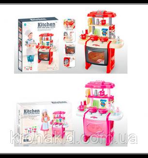 Детская Кухня WD-P15-R15 (2 цвета), с КРАНА ТЕЧЕТ ВОДА, со световыми и звуковыми эффектами, размер 50х31х63 см, фото 2
