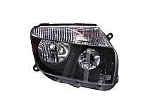 Передние (правая) Duster альтернативная тюнинг оптика фары на для Dacia Дачия Duster /Renault Duster 2010- правая H7/H1, авт./мех.рег., черная рамка