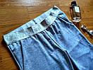 Штаны для прогулок и спорта штанишки спортивные брюки кельвин трикотаж двунитка Л-ка серые, фото 4