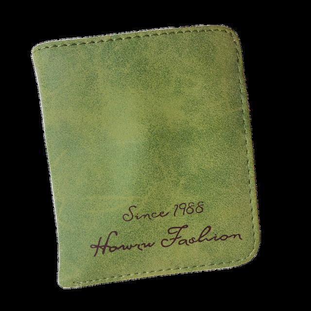 Маленький женский кошелек зеленый