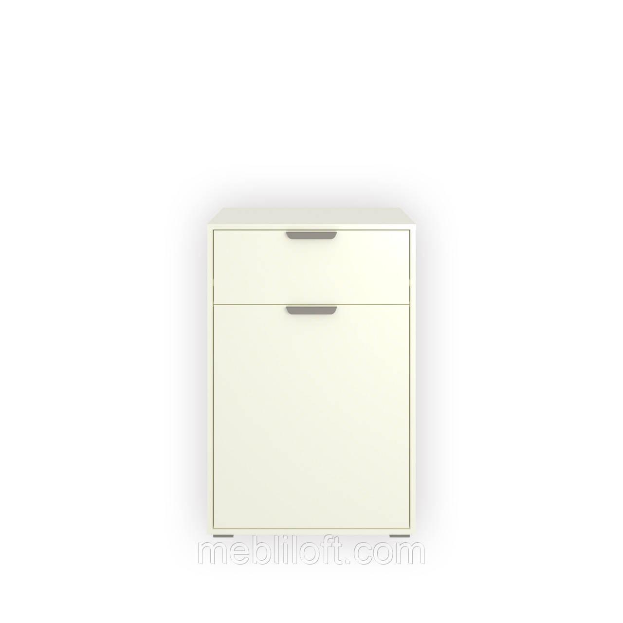 Комод  1D1S  Арте / Arte белый/ дуб каменный