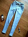 Штаны для прогулок и спорта укороченные штанишки спортивные капри со шнурочком трикотаж двунитка С-ка серые, фото 3
