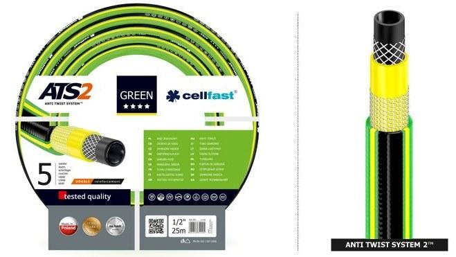 "Шланг садовий Green Cellfast 3/4"", 25 м. п."