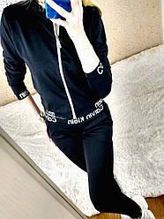 Костюм женский прогулочный спортивный Calvin Кельвин кофта бомбер на молнии Л-ка черный