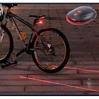 Фонарик Bailong Велофара KK-9301 + лазерный габарит