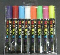 Маркеры для LED панелей флуоресцентные набор 8 цветов 6мм