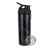 Спортивная бутылка-шейкер BlenderBottle SportMixer Signature Sleek BLACK SHATTERED SLATE 820мл (ORIGINAL), фото 1
