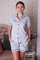 Женская пижама с рубашкой на пуговицах  Nicoletta 80868