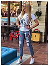 Костюм джинсы и футболка GUCCI люксовая реплика, фото 4
