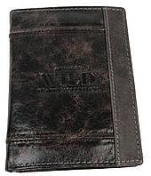 Вертикальное кожаное портмоне ALWAYS WILD SN4DIS Brown MIX коричневый