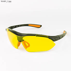 Мужские очки черные с желтыми линзами - 10-801