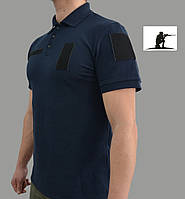 Тактическая футболка Поло Синяя.
