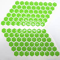 Соты на бак Fluo Green VIP качество, фото 1