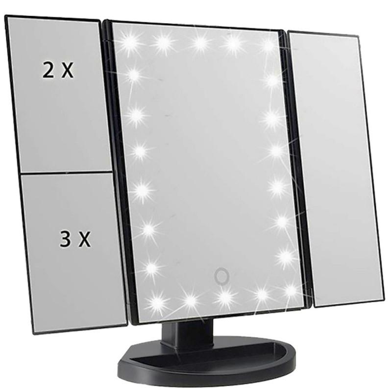 Косметическое складное зеркало Led miror с LED подсветкой