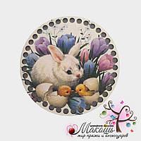 Цветная круглая заготовка для корзинки, диаметр 15 см, №11, Пасхальная