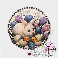 Цветная круглая заготовка для корзинки, диаметр 20 см, №11, Пасхальная