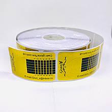 Форма для наращивания узкая золотая 10 шт