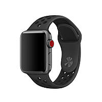 Ремінець Apple Watch Nike band 42mm/44mm Black/Gray
