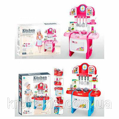 Детская Кухня WD-P19-R19 (2 цвета), с КРАНА ТЕЧЕТ ВОДА, со световыми и звуковыми эффектами, размер 50-31-70 см